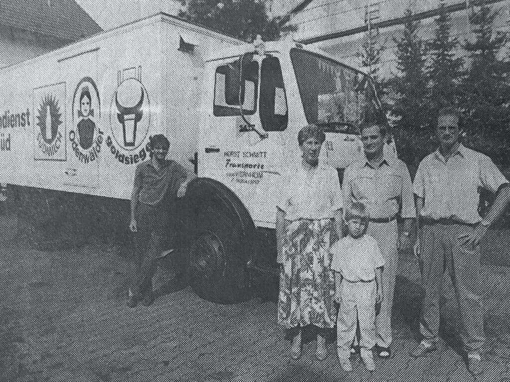 Historie Transportunternehmen Schmitt Kuehltransporte